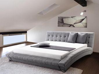 BELIANI - lit à eau lille gris 180x200 cm - Lit À Eau