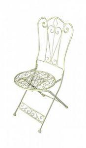 Demeure et Jardin - chaise fleur de lys - Chaise De Jardin