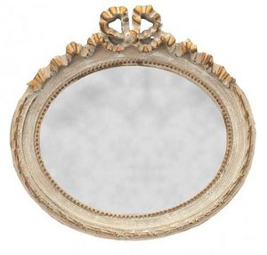 Demeure et Jardin - glace ovale style louis xvi horizontale - Miroir