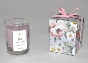Demeure et Jardin - bougie photophore senteur rose - Bougie Parfumée