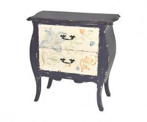 Demeure et Jardin - commode ile de ré bleue vintage - Commode