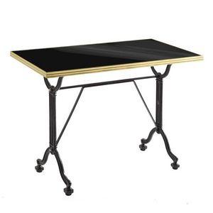 Ardamez - table de repas émaillée noir / laiton / fonte - Table De Repas Rectangulaire