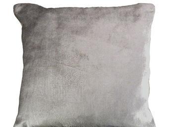 Interior's - housse de coussin velours gris - Housse De Coussin