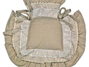 Interior's - galette de chaise � volants - Galette De Chaise