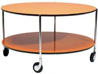 WHITE LABEL - table basse gold. - Table Basse Ronde