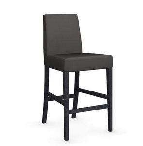 Calligaris - chaise de bar latina de calligaris gris foncé et h - Chaise Haute De Bar