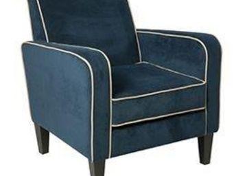 WHITE LABEL - petit fauteuil elegance saphir. - Fauteuil