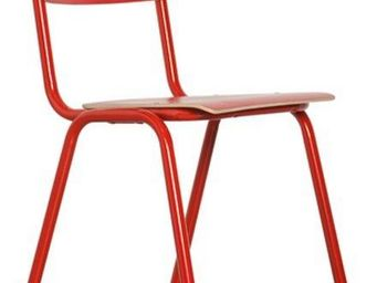 ZUIVER - chaise zuiver back to school rouge - Chaise