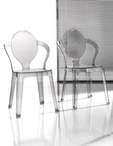 WHITE LABEL - lot de 2 chaises design spot en plexiglas transpar - Chaise