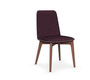Calligaris - chaise sami en hêtre et tissu aubergine de calliga - Chaise