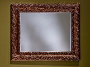 WHITE LABEL - sherwood miroir mural design en verre ambre - Miroir