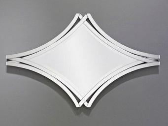WHITE LABEL - twin miroir mural design blanc - Miroir