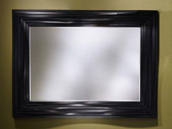 WHITE LABEL - smooth miroir mural design couleur noir - Miroir
