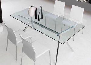 Calligaris - table repas seven 160x90 de calligaris en verre pi - Table De Repas Rectangulaire