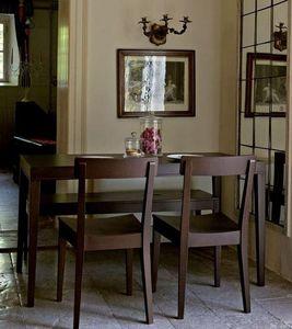 Calligaris - table repas la locanda 140x70 wengé de calligaris - Table De Repas Rectangulaire