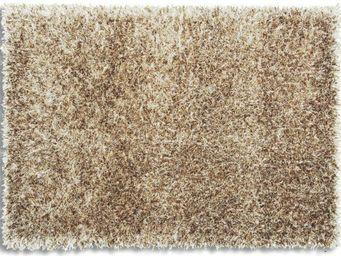 WHITE LABEL - feeling tapis épais taupe 120x180 cm - Tapis Contemporain