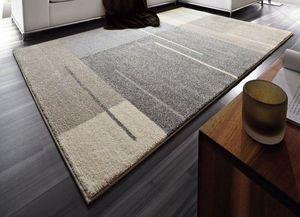 WHITE LABEL - samoa design tapis patchwork gris taupe 200x290 c - Tapis Contemporain