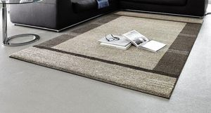 WHITE LABEL - samoa design tapis patchwork taupe 240x300 cm - Tapis Contemporain