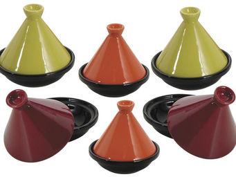 Aubry-Gaspard - 6 mini tajines en c�ramique 10cm - Plat � Tajine
