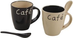 Aubry-Gaspard - mug � caf� en gr�s (lot de 2) - Mug