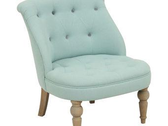Interior's - fauteuil bastien bleu - Fauteuil Bas