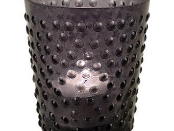 Interior's - photophore gris en verre pois & compagnie - Photophore
