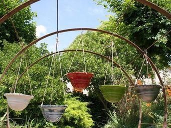 Les Poteries Clair de Terre - sir�ne - Jardini�re Suspendue