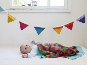 ANNA 100% MERINO KNITS -  - Plaid Enfant