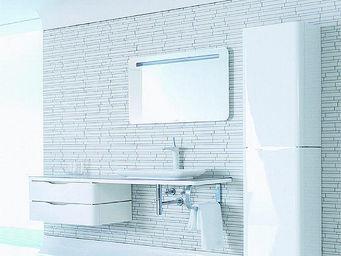 UsiRama.com - meuble salle de bain design taime 1.5m - Meuble De Salle De Bains