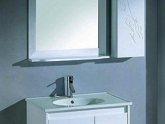 UsiRama.com - petit meuble salle de bain chicfleur colonne 80cm - Meuble Vasque
