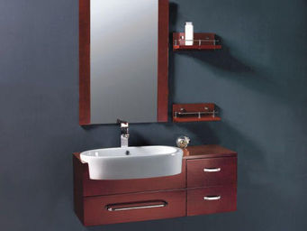 UsiRama.com - meuble salle de bain avec grand lavabo ovale 1m - Meuble Vasque