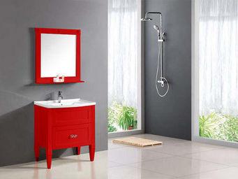 UsiRama.com - ensemble meuble salle de bain charme 80cm rouge - Meuble Vasque
