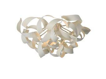 LUCIDE - plafonnier atoma d70 cm en aluminium blanc - Plafonnier