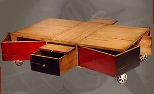 BATEL -  - Table Basse À Roulettes