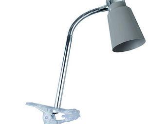 Corep - joey - spot à pince taupe | spot corep designé par - Lampe À Pince