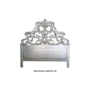 DECO PRIVE - tête de lit 200 cm en bois argenté modèle carved - Tête De Lit