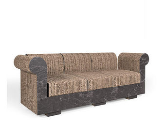 Corvasce Design - divano a tre posti chester - Canap� 3 Places