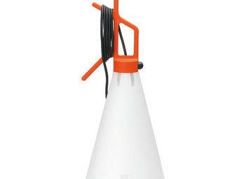 FLOS - may day - lampe à poser ou à suspendre orange h53c - Lampe À Poser