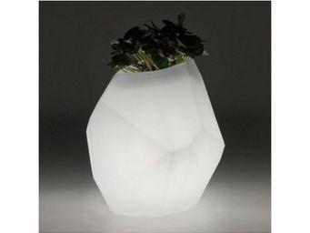 TossB - pot de fleurs lumineux à facettes secret light - Pot Lumineux
