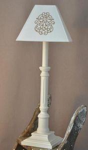 Abat-jour - lampe cannelée - Lampe À Poser