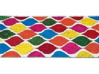 WHITE LABEL - tie and die, tapis multicolore 170 x 240 cm. - Tapis Contemporain