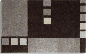 WHITE LABEL - samoa design tapis patchwork gris - 200x290 cm - Tapis Contemporain