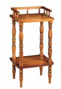 WHITE LABEL - porte téléphone oma en hêtre massif - Table De Chevet