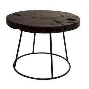 WHITE LABEL - table basse kraton de dutchbone 60 x 43 cm en teck - Table Basse Ronde