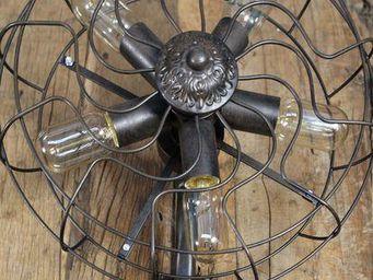 COMPAGNIE DES AMPOULES A FILAMENT - applique ventilateur - Applique