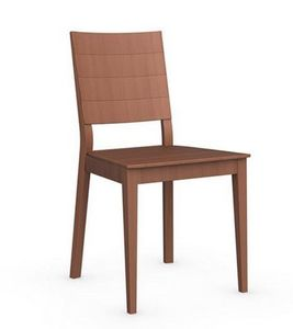 Calligaris - chaise italienne style line de calligaris merisier - Chaise