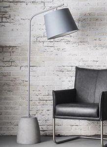 WHITE LABEL - lampadaire mani beton son abat-jour cylindrique g - Lampadaire