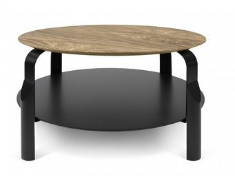TemaHome - temahome table basse relevable scale 80*80 cm noye - Table Basse Ronde