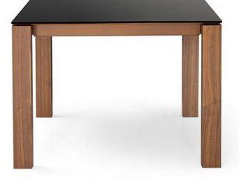 Calligaris - table repas sigma glass 140x140 de calligaris en v - Table De Repas Carr�e