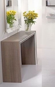 WHITE LABEL - console design archimede noyer - Console